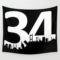 istanbul Wall Tapestries featuring 34 istanbul by tantoonie