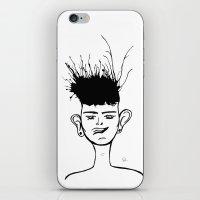 jay fleck iPhone & iPod Skins featuring Jay by Ivana Quesada