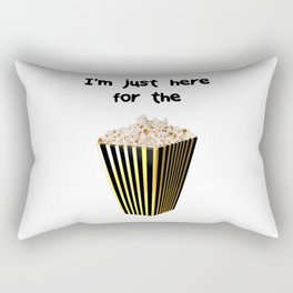 Im just here for the popcorn Rectangular Pillow