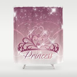 Princess Tiara Shower Curtain