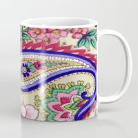 deco Mugs featuring Floral Deco by Elena Indolfi