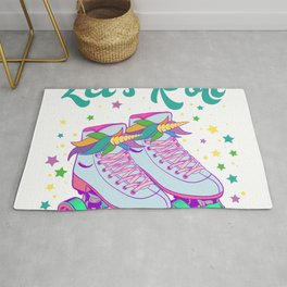 """Let's Roll"" Roller Skate Birthday Girl Is A Awesome Gift For The Birthday Princess T-shirt Design Rug"