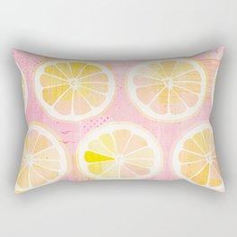 Orange Slices Pastel Fruit Rectangular Pillow