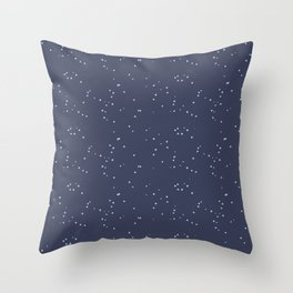Dark Gray Blue Shambolic Bubbles Throw Pillow