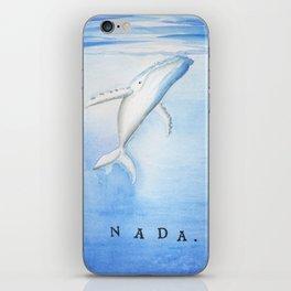 Nada - White Humpback Whale iPhone Skin