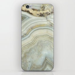 White Agate iPhone Skin