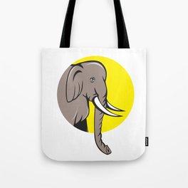 Indian Elephant Head Cartoon Tote Bag