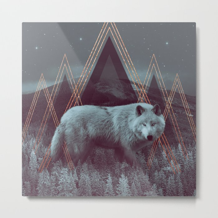 In Wildness | Wolf Metal Print