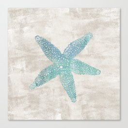 Aqua Starfish Canvas Print