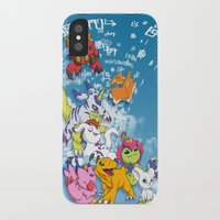 digimon iPhone & iPod Cases featuring Digimon Adventure Partners by Jelecy
