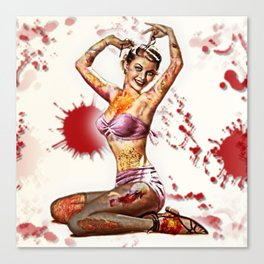 Zombie Pin Up Canvas Print