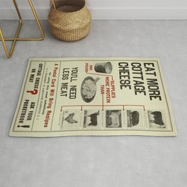 Vintage poster - Cottage Cheese Rug
