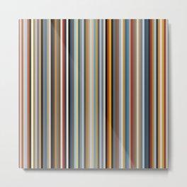 Nordic Stripes Vertical Pattern Metal Print