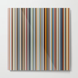 Nordic Stripes Vertical Pattern Metal Print
