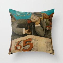 Batalha Cinema 65th anniversary Throw Pillow