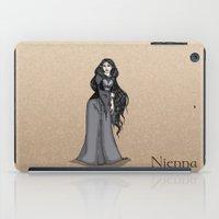 valar morghulis iPad Cases featuring Nienna by wolfanita