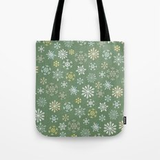 christmas snowy green Tote Bag