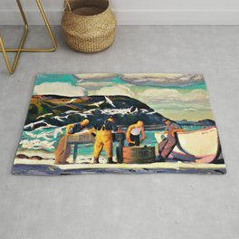 13,000px,500dpi-George Wesley Bellows - Cleaning Fish - Digital Remastered Edition Rug