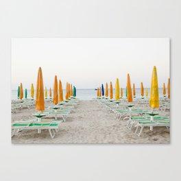 Quiet Italian Beach Canvas Print