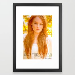 Save the Gingers #5 Framed Art Print