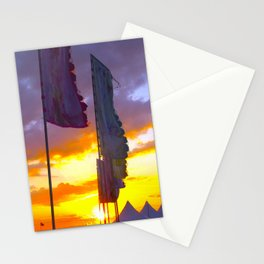 LINDISFARNE MUSIC FESTIVAL Flags In Sunset Stationery Cards