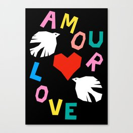 Love Doves Canvas Print