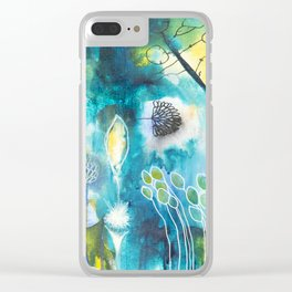 Cracks I - Where the light gets in Clear iPhone Case