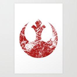 Rebel Alliance (Red) Art Print