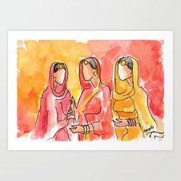 Punjabi Women celebrating Art Print