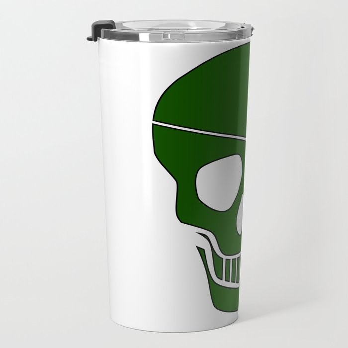 Canabis Patch Skull Travel Mug