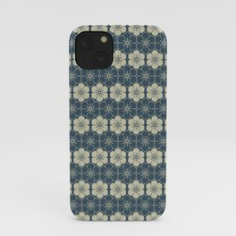 Blue Floral Japanese Pattern iPhone Case
