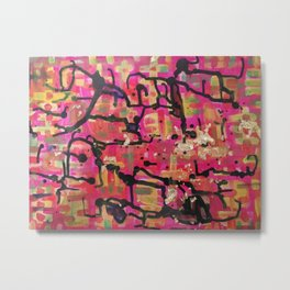 abstract gold and pink Metal Print