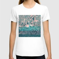 washington dc T-shirts featuring washington dc city skyline by Bekim ART