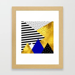 fall abstraction #3 Framed Art Print