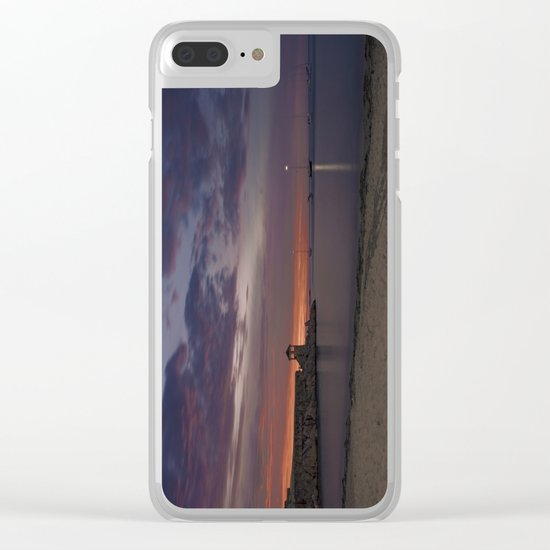 Front Beach After sunset Clear iPhone Case