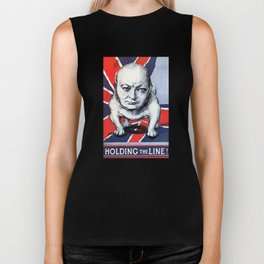 Winston Churchill -- Holding The Line Biker Tank