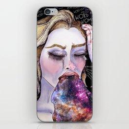 Galactic Word Vomit iPhone Skin