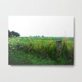 Fence & Field Metal Print