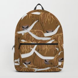 Scottish Highland Cows Backpack