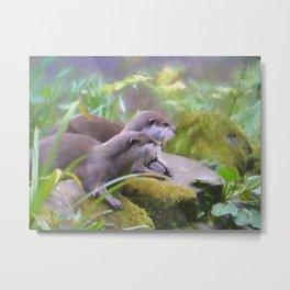 Otter Duo Metal Print