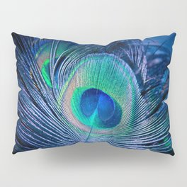 Peacock Feather Blush Pillow Sham