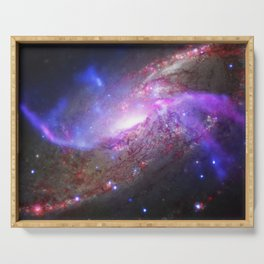 Spiral Galaxy Black Hole Galactic Space Fireworks Serving Tray