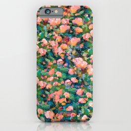 Romantic Roses Pattern — Peach • Coral iPhone Case
