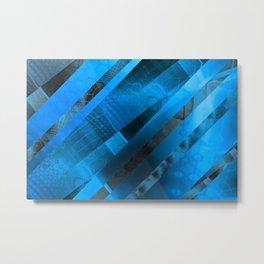 Free Floating Pattern (blue) Metal Print