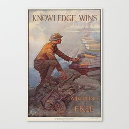 Wikipedia is Free Canvas Print