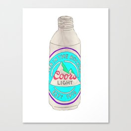 I Love You Coors Light - Ode to Summer Beach Beers Series Canvas Print