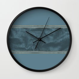 Blueprint and Leather texture Wall Clock