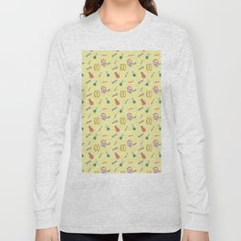 Cosmetics Yellow . Makeup Long Sleeve T-shirt