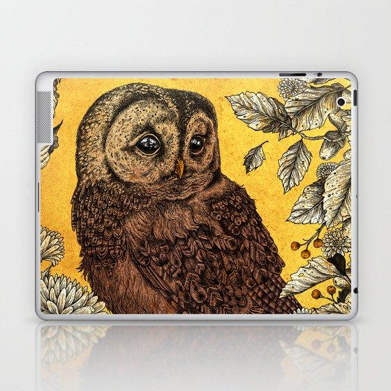 Tawny Owl Yellow Laptop & iPad Skin