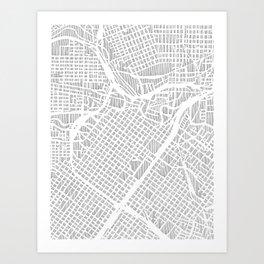 houston city print Art Print